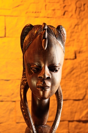 Traditional wooden sculpture from Africa. Nigeria.  photo