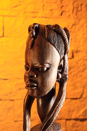 stone carvings: Traditional wooden sculpture from Africa. Nigeria.