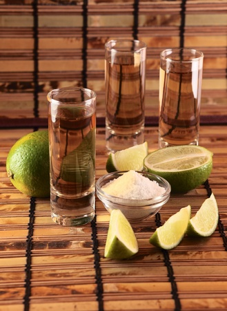 tequila with salt and lime.