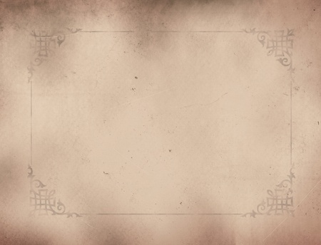 background.old paper with ornament. Stock Photo - 10459965