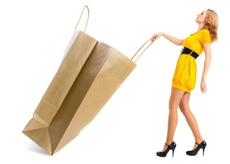 shopping,concept image on a white background. photo