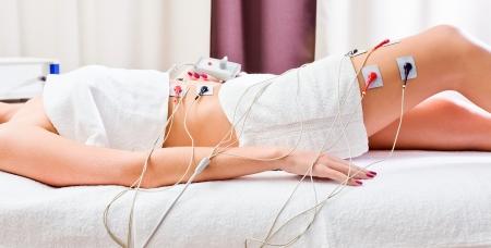woman in spa salon , weakening procedure