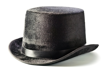 Black top hat isolated on white background  Stock Photo - 16935453