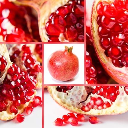 Pomegranate fruit seeds , saved clipping path photo
