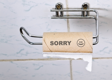 papel higienico: Triste Foto de archivo