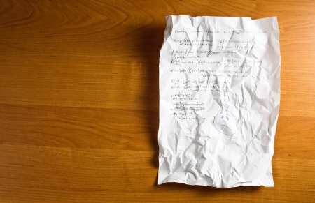 algebraic: Crumple paper with Mathematical formula