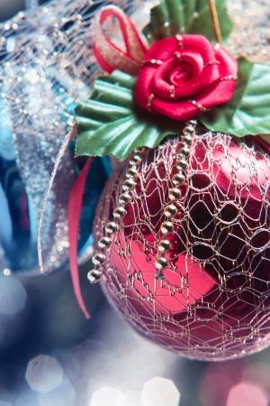 darck: christmas decoration on a darck background. Stock Photo