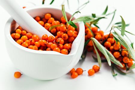 argousier: baies d'argousier contiennent de la vitamine C, sont utilis�s en pharmacologie, la m�decine, de la cosm�tologie
