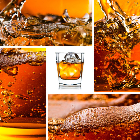 detail of an alcoholic beverage with natural ice,saved clipping path photo