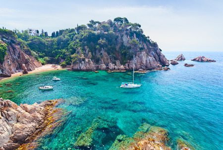 Mediterranean coast of Spain, Costa Brava 스톡 콘텐츠