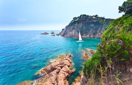コスタ ・ ブラバは、スペインの地中海沿岸 写真素材