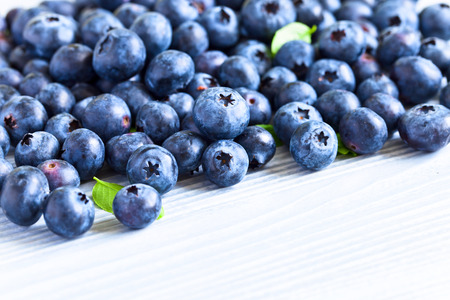 woden: blueberry, ripe berries on a old woden table Stock Photo