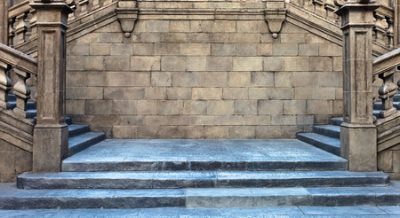 middle ages: stairs and stone wall , middle ages , Spain
