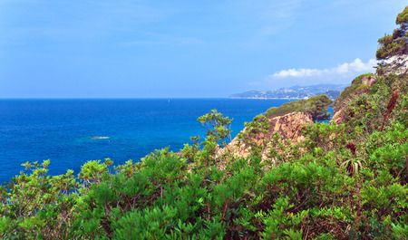 costa brava: Seascape . Mediterranean coast of Spain, Costa Brava