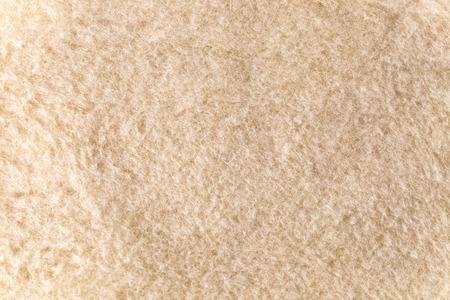 closeup of new  beige woolen blanket Stock Photo