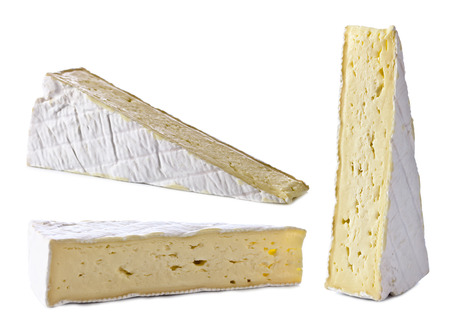 bri: bri cheese isolated on a white background
