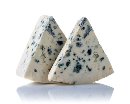 Blue cheese isolated on a white background. 写真素材 - 127100090