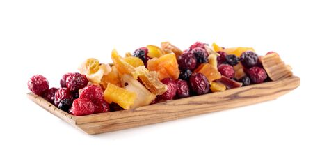 Dried fruits isolated on a white background.