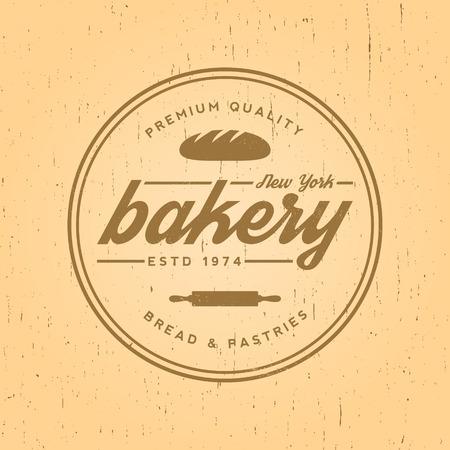 bakery label on yellow grunge background 向量圖像