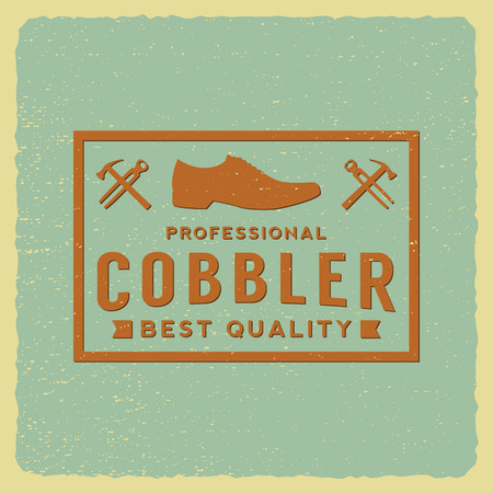 cobbler: cobbler label on grunge background