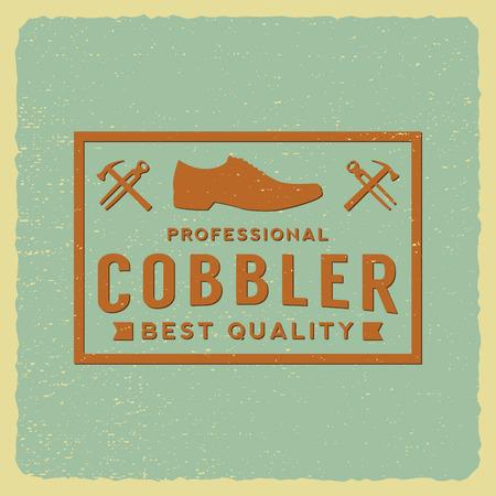 cobbler label on grunge background