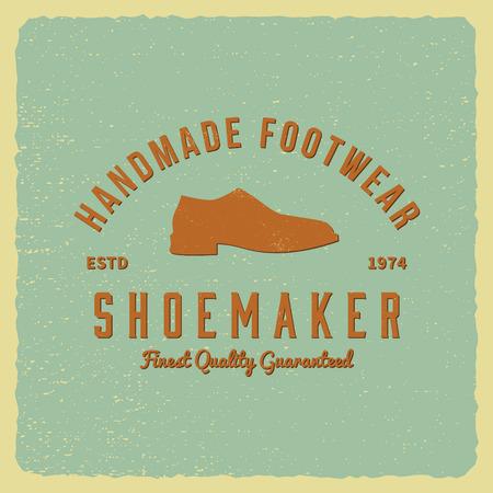 cobbler: shoemaker label on grunge background Illustration