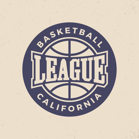 basketball league logo. modern sport emblem. vector illustration 向量圖像