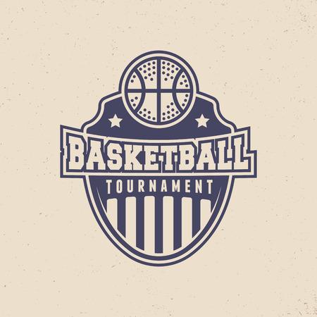 basketball tournament logo. modern sport emblem. vector illustration 向量圖像