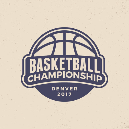 basketball championship logo. modern sport emblem. vector illustration