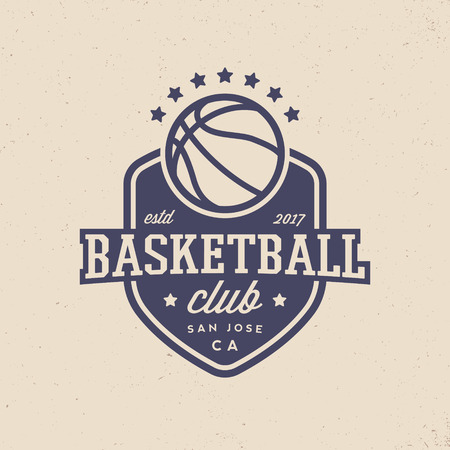 basketball club logo. modern sport emblem. vector illustration