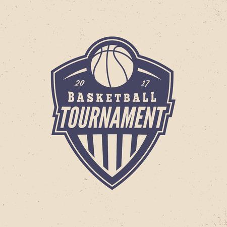 Basketball tournament logo modern sport emblem.
