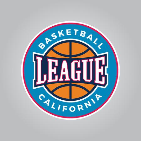 Basketball league logo modern sport emblem. 向量圖像