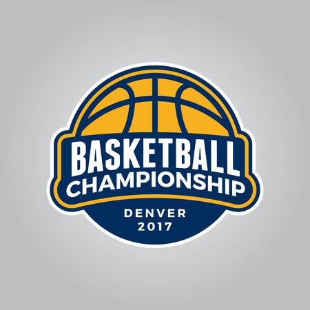 Basketball championship logo modern sport emblem. 向量圖像