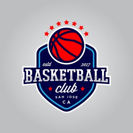 Basketball club logo modern sport emblem.