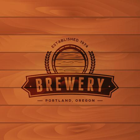 Vintage brewery badge beer brewing label.