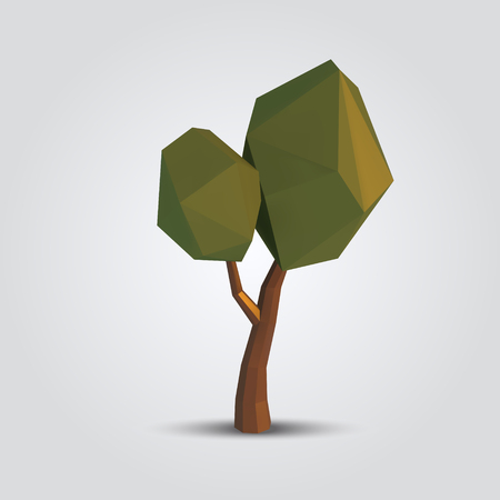 low poly tree vector illustration. geometric polygonal element for poster, banner, flyer 版權商用圖片 - 71936767
