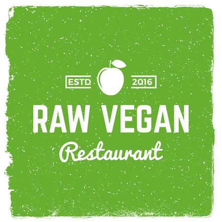 vegetarian restaurant emblem. vegan food logotype template. vector illustration