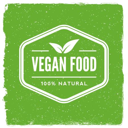 Vegetarian restaurant emblem vegan food logotype template.