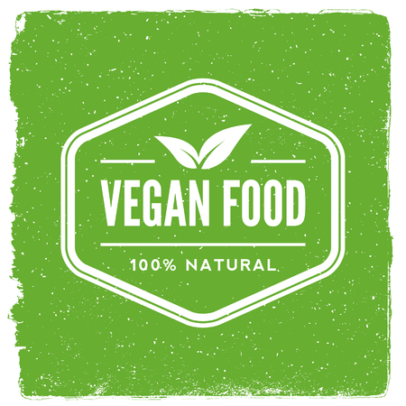 vegan: Vegetarian restaurant emblem vegan food logotype template.