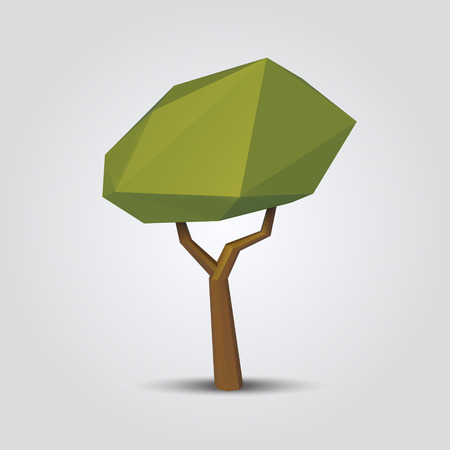 low poly tree vector illustration. geometric polygonal element for poster, banner, flyer 版權商用圖片 - 71968533