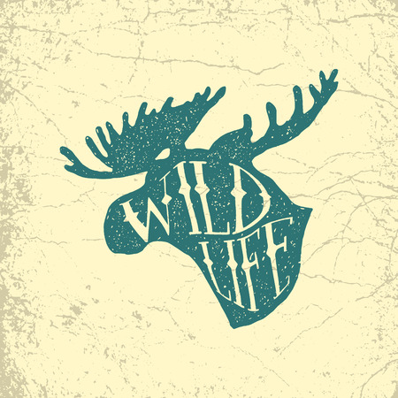 vintage hand drawn outdoor adventure badge. vector logo template with ink texture 版權商用圖片 - 71968521
