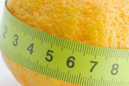 mesure: A around the mandarin Stock Photo