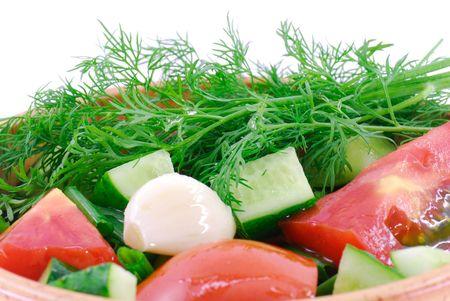 fireclay: Vegetable salad in fireclay pot
