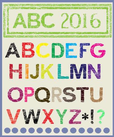 lighten: The multi-colored alphabet which will lighten mood.Vector.