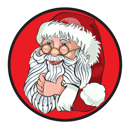 tittle: Santa Claus Cartoon Character Showing  Merry Christmas Tittle Written  in Blank Space. Vector