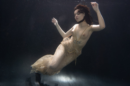 beautiful girl under the water