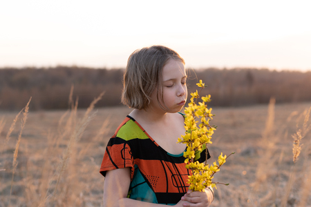 stands with yellow flowers