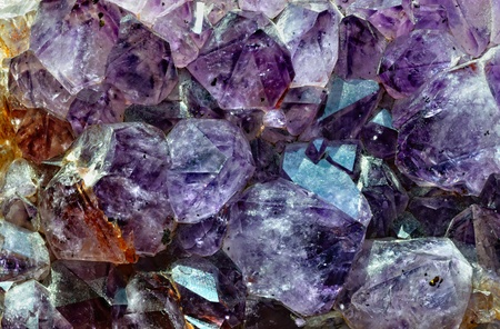 Raw amethyst isolated on white background Stok Fotoğraf