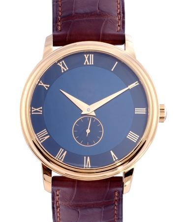 Men luxury wrist watch on white background photo