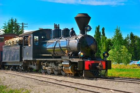 narrow gauge: Narrow gauge steam locomotive with number 6  Minkio, Finland Editorial